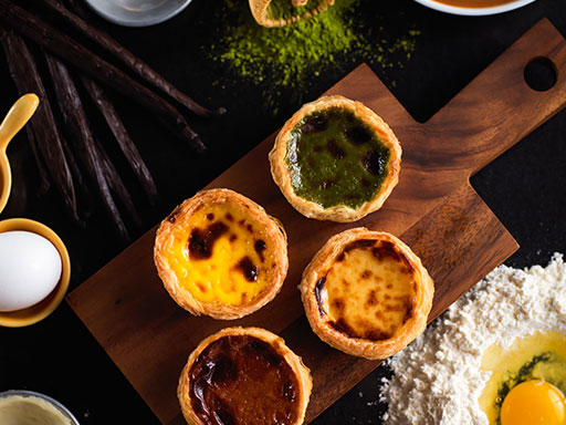 "Delectable Classic Confectionary Creations - Portuguese Egg Tarts ""Quartet"" Are Available at Grand Lisboa Hotel"